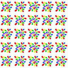 colored drops pattern