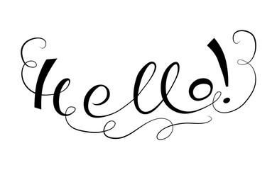Lettering Hallo