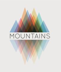 Vector abstract mountain