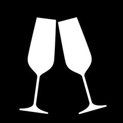 Sparkling champagne glasses.