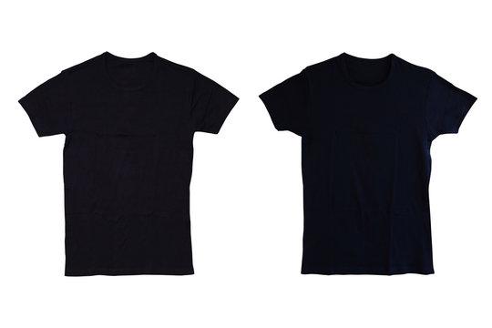 Black tshirt isolated