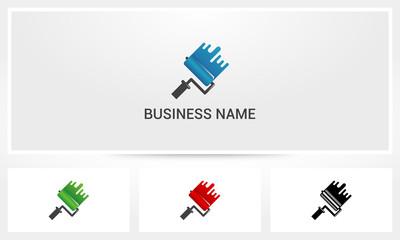 Roller Brush Paint Logo