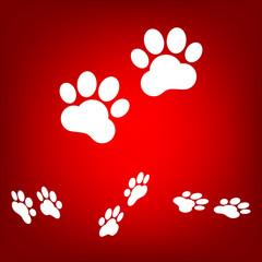 Animal Tracks. Vector illustration