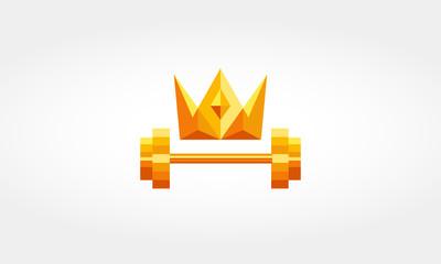 Crown Dumbbell Fitness Logo
