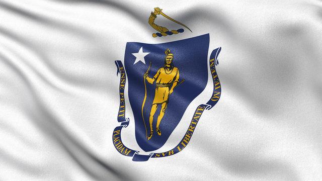 US state flag of Massachusetts