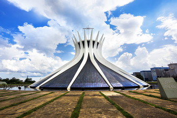 Cathedral of Brasilia, capital of Brazil.