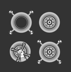 set of elements for tire
