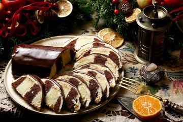 Saddle of venison cake