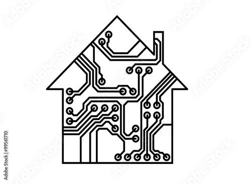 u0026quot smart household vector  printed circuit board u0026quot  stock