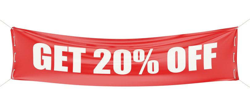 discount 20 %  concept