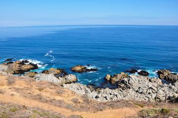 Pacific Ocean on the coast of Isla Negra, Chile