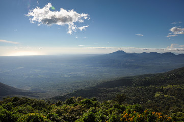 View of El Salvador from Cerro Verde National Park