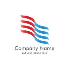 Modern Flag Logo icon