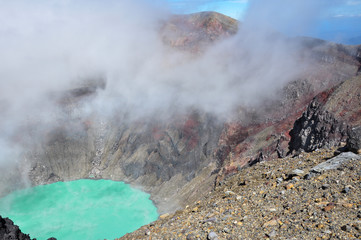 Crater of Volcan Santa Ana, Cerro Verde National Park, El Salvad