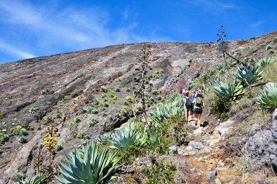 Trekking to Santa Ana volcano, El Salvador