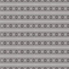 Seamless vector pattern. Symmetrical geometric background with grey lines on the dark backdrop. Decorative ornament.