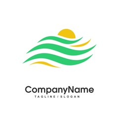 agriculture nature logo icon vector