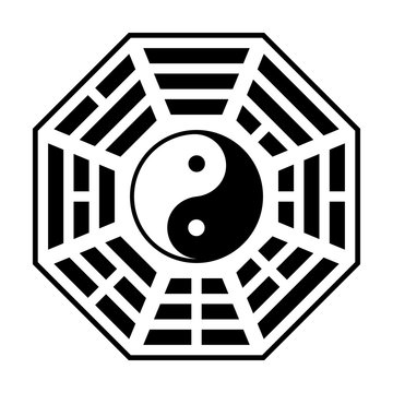 Bagua - symbol of Taoism / Daoism flat icon for websites and print