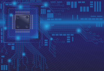 microchip digital background computer illustration