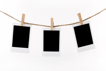 Polaroid Photo Frames on Rope.