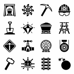 Vector Mining icon set