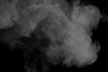Abstract gray smoke hookah. Inhalation.