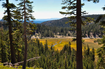 Fototapete - Lassen Volcanic National park, California, USA