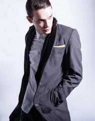 Male fashion portrait.