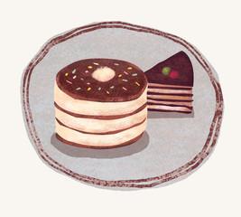 パンケーキとケーキ