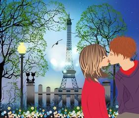zakochani w Paryżu,
