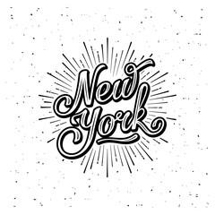 New York Lettering White
