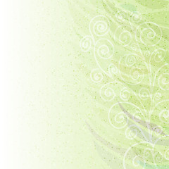 Vintage green abstract floral background
