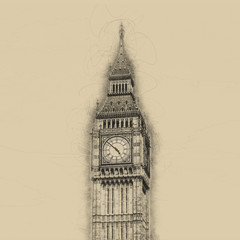 Fotomurales - Vintage style toned Big Ben view