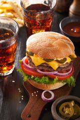 double cheeseburger with jalapeno tomato onion
