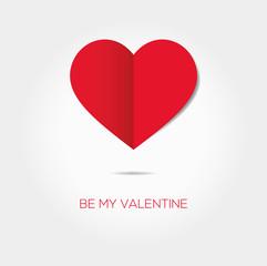 Valentines Day - Valentinstag - Schönes Herz (Vektor) mit schönem Schriftzug