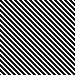 Diagonal stripe seamless pattern. Geometric classic monochrome stripes line background.