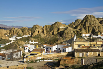 View of Guadix, one of the oldest human settlements in Spain
