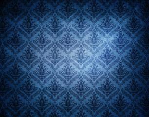 blue wallpaper pattern.