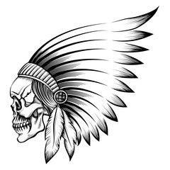 Indian Skull Emblem