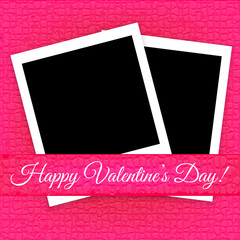 Valentine's Day card with photo frames