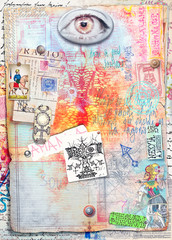 Canvas Prints Imagination Collage,patchwork,scrapbook and graffiti background series
