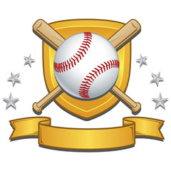 Baseball Vector Colorful Crest