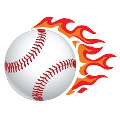 Vector Baseball in Flames