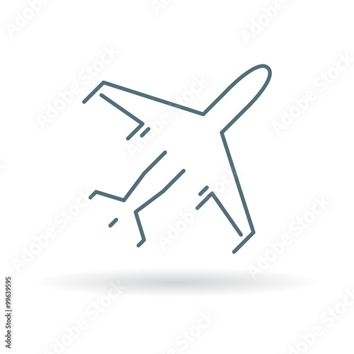 flying airplane symbol