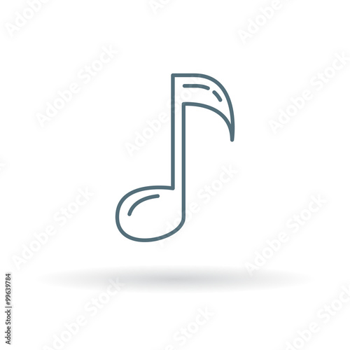 Music Note Icon Music Key Sign Song And Melody Symbol Thin Line