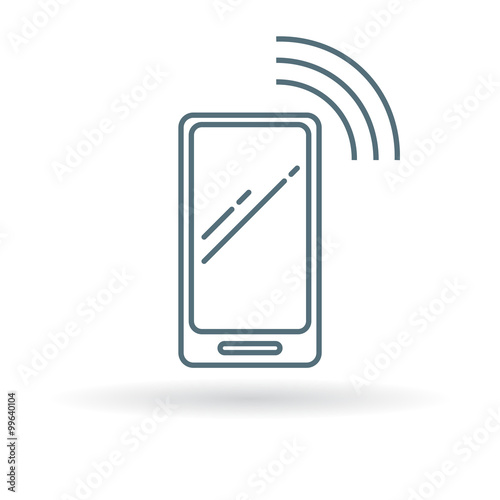 Image result for cellphone line icon