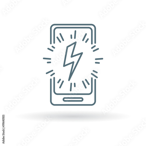 Smartphone Power Charge Icon Cellphone Lightning Bolt Sign Mobile