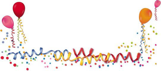 Party - Luftschlangen, Luftballons