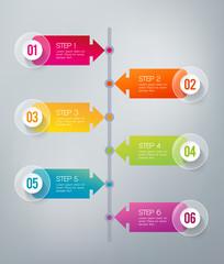 Infographics - 6 steps