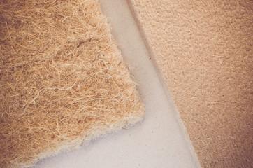 thermal insulating hemp fiber panels close up